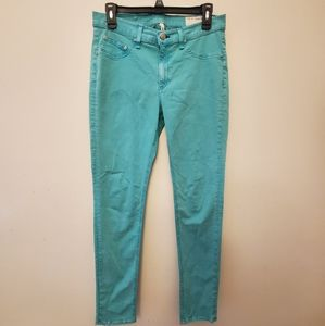 Rag & Bone Teal Blue Green Legging Jeans